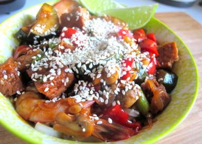 Spiced Tofu & Prawn Stir Fry
