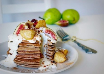 Pear & Cinnamon Pancakes with Coconut Yoghurt