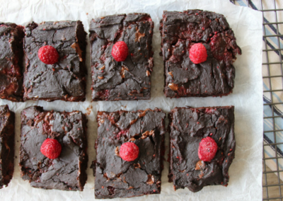Raspberry & Black Bean Brownies