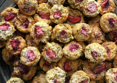 Strawberry, Zucchini & Banana Muffins