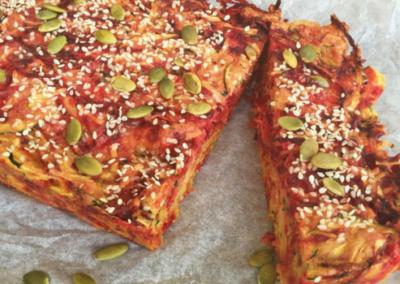 Zucchini & Beetroot Slice