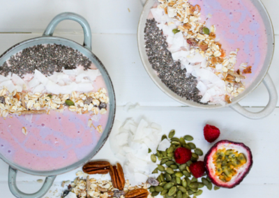 Strawberry & Banana Kefir Smoothie Bowl