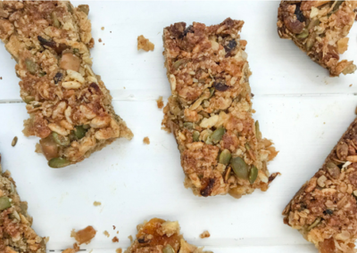 Apple & Apricot Granola Bars