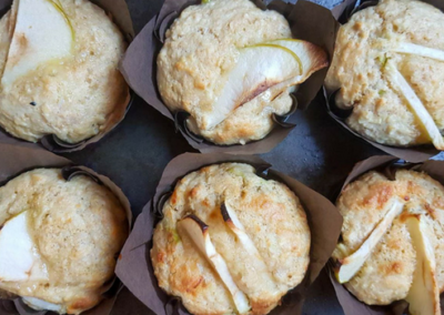 Apple, Oat & Cheese Muffins