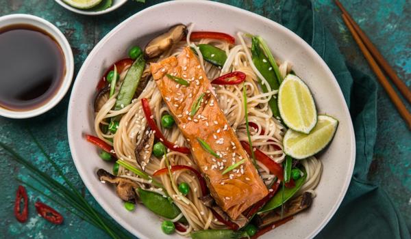 Glazed Salmon & Soba Noodles