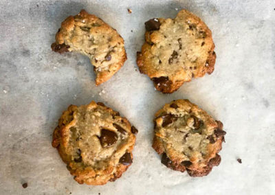 Tahini Choc Chip Cookies