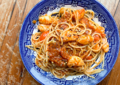Fennel & Garlic Prawn Pasta