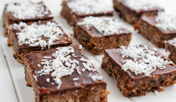 Chocolate & Date Oat Slice