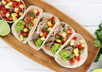 Pineapple & Pulled Chicken Tacos