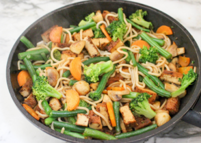 Tofu & Greens Noodle Stir-Fry