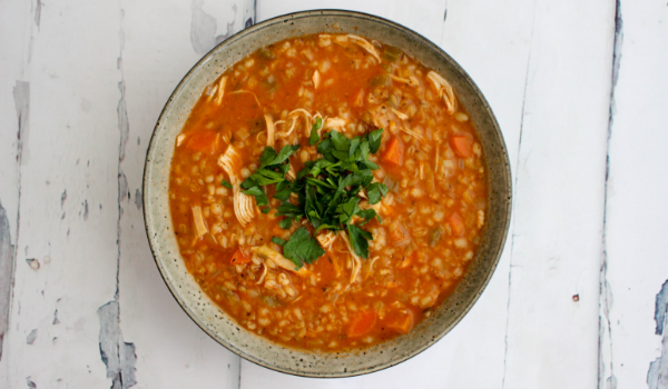 Tomato, Chicken & Barley Soup