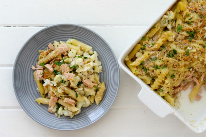 Tuna Cauli Pasta Bake