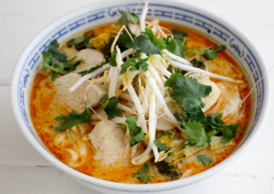 The Best 10 minute Chicken Laksa